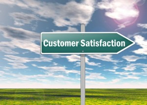 27378408 - signpost with customer satisfaction wording