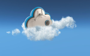 3D cloud security concept