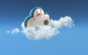 3D cloud security concept