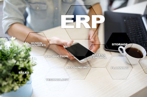 90462983 - enterprise resources planning business and technology concept.
